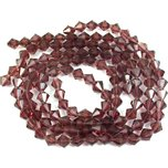 Amethyst Bicone FP Chinese Crystal Beads 8mm 3 Strands