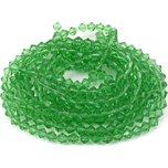 "Bicone Faceted Chinese Glass Beads Green 6mm 5 13"" Strands"