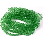 "Bicone Faceted Chinese Glass Beads Green 6mm 10 13"" Strands"