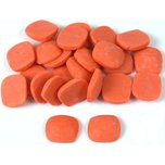 Coral Red Square Cabochon 9mm 24Pcs