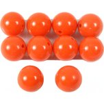 Coral Red Round Beads 6.5mm 10Pcs
