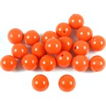 Coral Red Round Beads 6.5mm 20Pcs