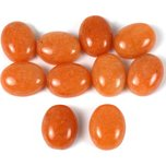 Aventurine Red Oval Cabochon 10.5mm 10Pcs