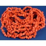 Coral Red Chip Beads 3 Strands