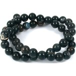 Agate Black Round Beads 8mm 1 Strand