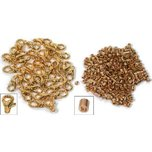 36 Gold Plated Lobster Clasps & 72 1.5mm Bead Crimps
