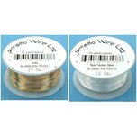 26 Gauge Gold Tone & Non-tarnish Silver Plated Artistic Craft Wire Kit 2 Pcs