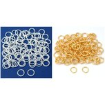 8mm Silver & Gold Plated Open Jump Rings Jewelry Findings Connectors Kit 200 Pcs
