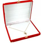"Necklace Brass Corner Gift Box Red 7 1/2"" (Only 1 Box)"