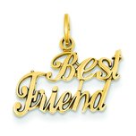14K Gold Best Friend Charm