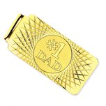 14K Gold #1 Dad Money Clip