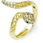 Sterling Silver Gold Plated CZ Fashion Ring (Sizes 6 to 8)