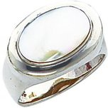 Sterling Silver Mother of Pearl Oval Ring