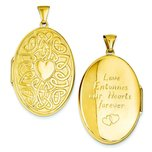 14K Gold Celtic Oval Heart Locket