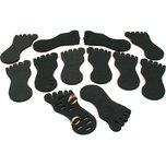 12 Toe Ring Foot Foam Display Body Jewelry Case Black