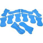 12 Toe Ring Foot Foam Display Body Jewelry Case Blue