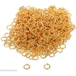 600 Gold Plated Open Jump Rings 19 Gauge 6mm