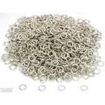 1000 White Plated Open Jump Rings 19 Gauge 6mm