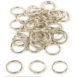 36 Jump Rings Closed Sterling Silver Jewelry Ring 7mm