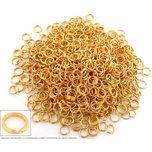 1000 Split Ring 6mm Gold Plated Chain Parts FindingKing