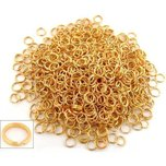 1000 Gold Plated Split Ring Jewelry Chain Parts 9mm
