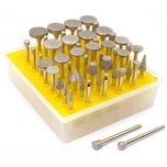 Diamond Coated Burs & Wheels 50Pcs