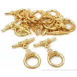 Toggle Clasps Gold Plated 13.5mm 22 Grams