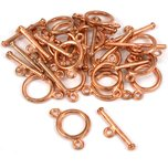 Two Strand Toggle Clasp Copper Plated 11.5mm 15Pcs Approx.