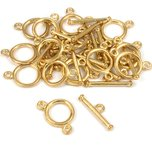 Two Strand Toggle Clasp Gold Plated 11.5mm 15Pcs Approx.