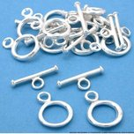 Toggle Clasps Silver Plated Bead Parts 13mm Approx 12