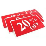 6 20% Off Plastic Message Display Signs