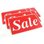 6 Sale Plastic Message Display Signs