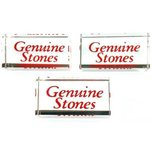 3 Genuine Stones Crystal Signs Jewelry Counter Showcase