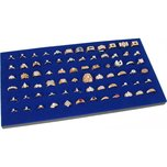 Ring Display Pad 72 Slot Jewelry Travel Blue Insert New