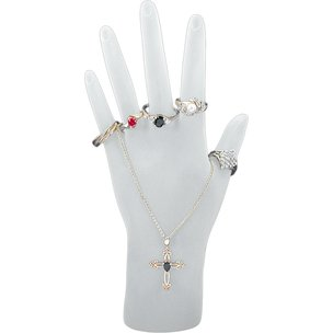 Frosted Jewelry Hand Display