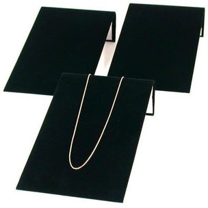 3 Bracelet Display Ramp Black Velvet Jewelry Showcase
