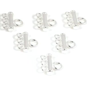 Sterling Silver Triple Bead Strand Reducer Connector (2)