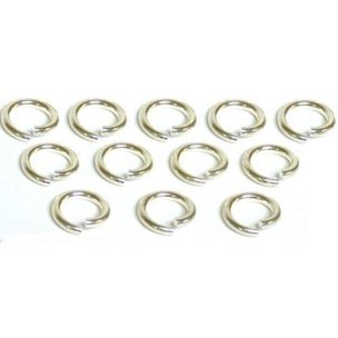 12 Jump Rings Sterling Silver Open Jewelry Charm 16 Ga
