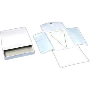 "Pearl Folders White Faux Leather 10"" (Only 1 Folder)"