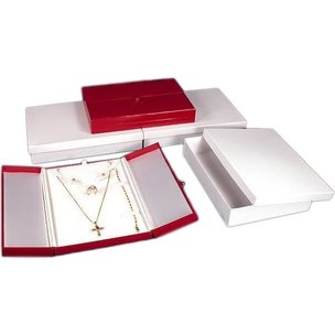 3 Red Jewelry Combination Snap Lid Gift Boxes