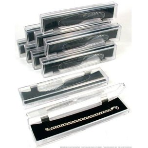 10 Crystal Bracelet Jewelry Boxes Clear Cut Display Gift Holder