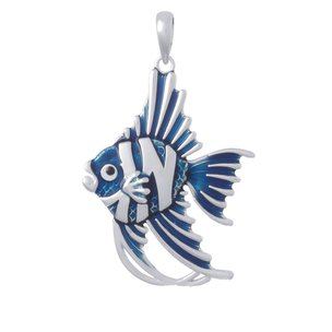 Sterling Silver Angelfish Pendant