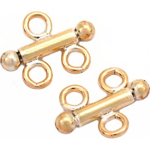 Double Strand Connector 14k Gold Filled 7mm 2Pcs
