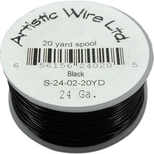 Artistic Wire Spool Black 24 Gauge 18.2M