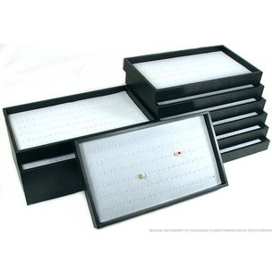 12 72 Slot Gray Ring Display & Travel Tray