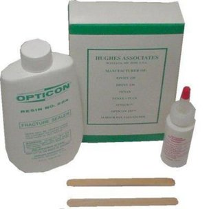 2 Opticon Fracture Sealer & Hardener Lapidary Cabochon Kits