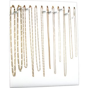 12 Hook White Chain Necklace Display Jewelry Easel New 2 Pcs