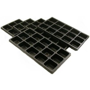 "15 Compartment Display Tray Inserts Plastic 14 1/8"" 5Pcs"