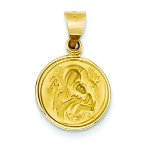 18k Gold Our Lady Of Perpetual Help Medal Charm