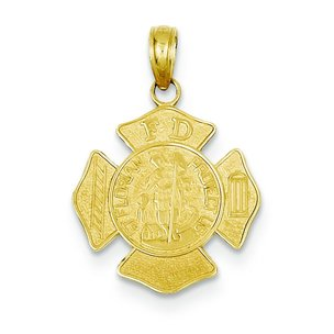 14K Gold St Florian Badge Charm